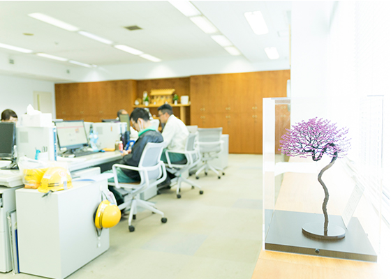 東京ガス基地内にある事務所のイメージ